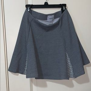 Gray skirt with grid details hidden